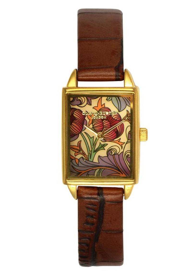 Olivia Burton Flower Show Watch - Burgundy main image
