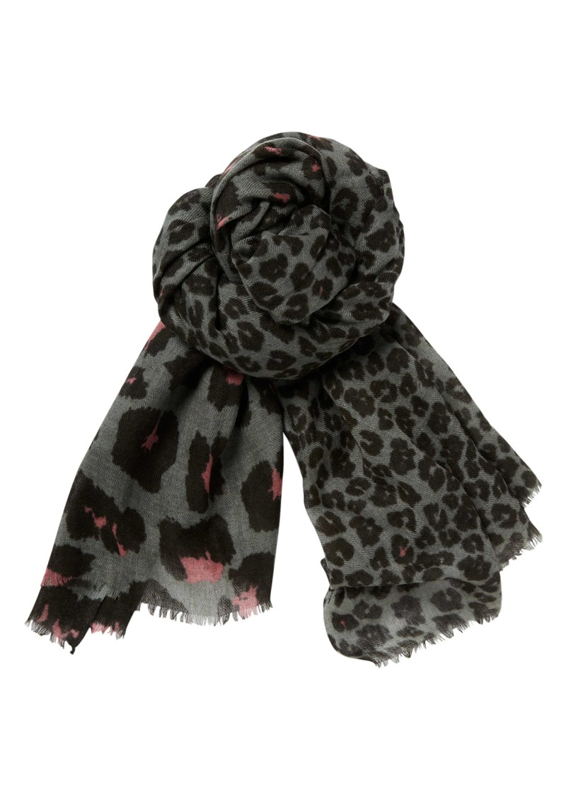 Lily and Lionel Collette Silk & Wool Mix Scarf - Grey main image