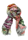 Lily and Lionel Sirani Wool Scarf - Grey Pink