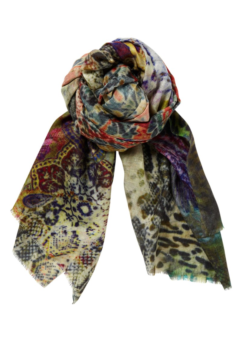 Lily and Lionel Rossi Silk Scarf - Green main image