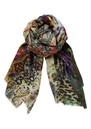 Lily and Lionel Rossi Silk Scarf - Green