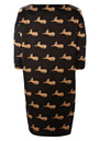 Great Plains Cats Tunic - Black/Mansion