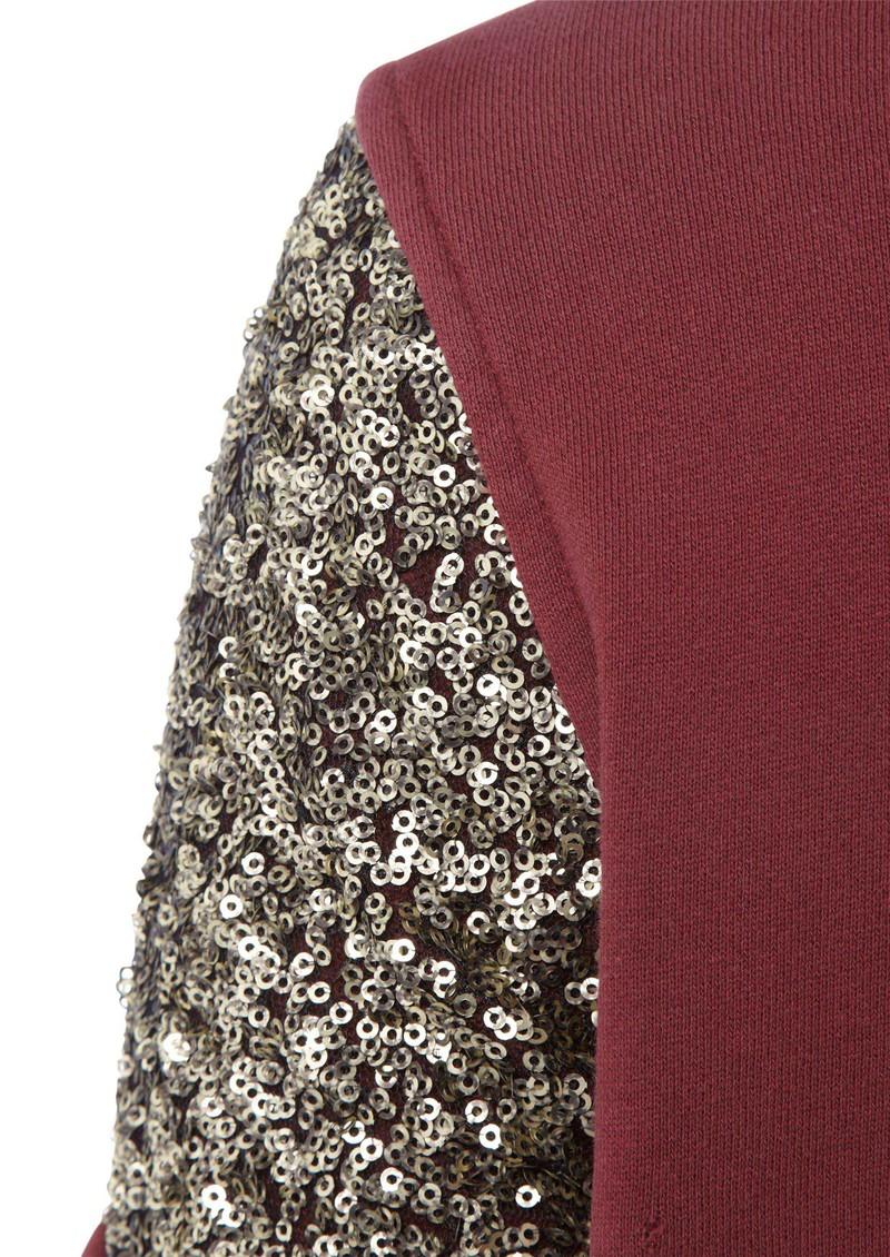 Maison Scotch Sequin Short Sleeve Sweat - Red main image