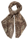 Lily and Lionel Plath Silk & Wool Mix Scarf - Taupe