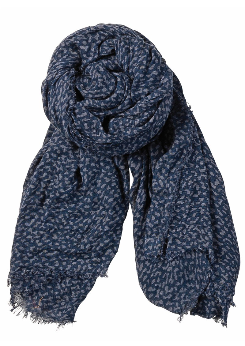 Becksondergaard A Stormy Winter Wool Mix Scarf - Navy main image