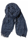 Becksondergaard A Stormy Winter Wool Mix Scarf - Navy