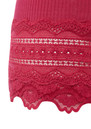 Wide Lace Silk Blend Vest - Cherry additional image