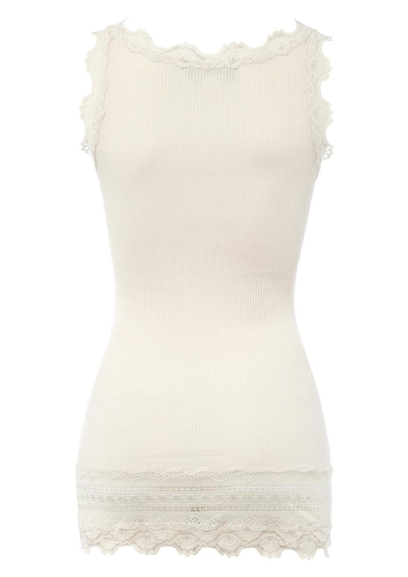 Rosemunde Wide Lace Silk Blend Vest - Marble main image