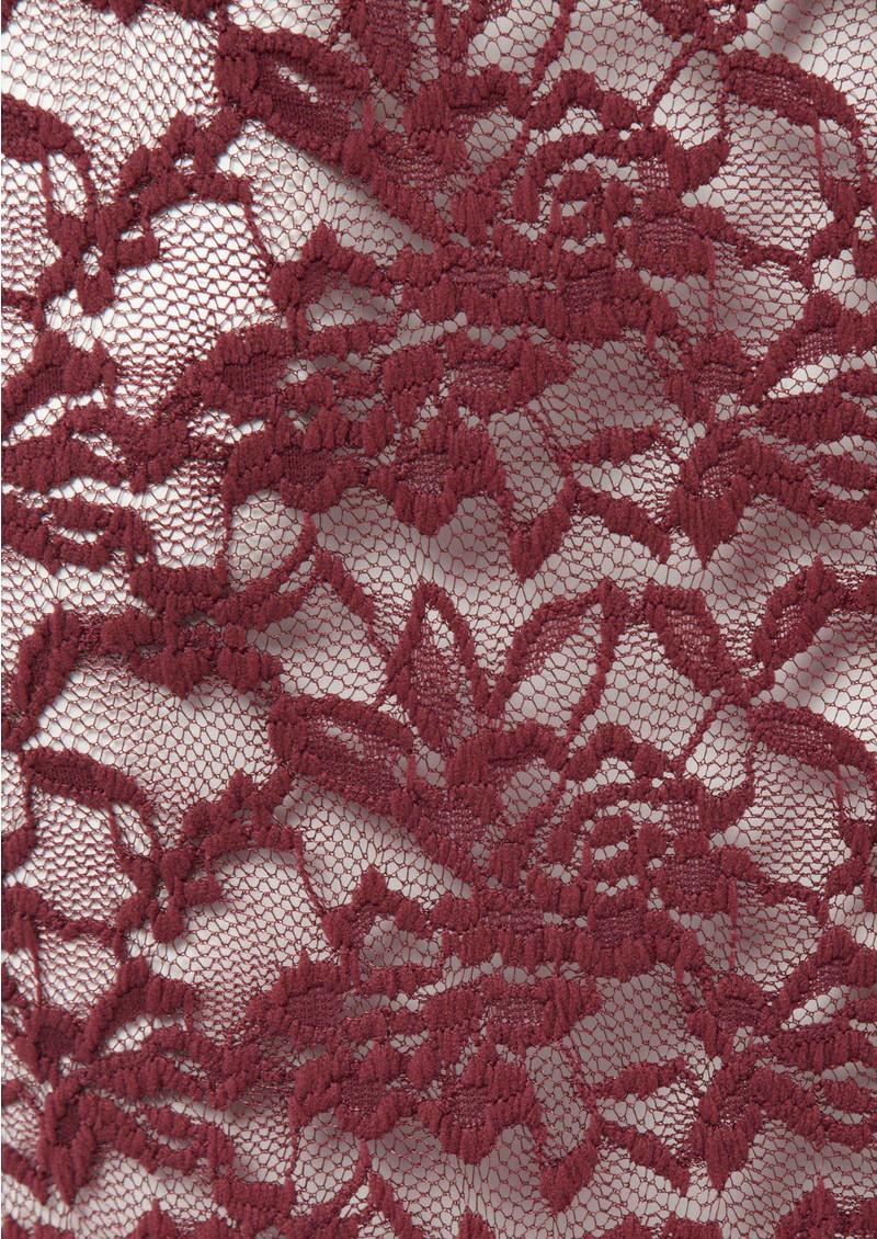 Rosemunde Lace Top - Soft Wine main image