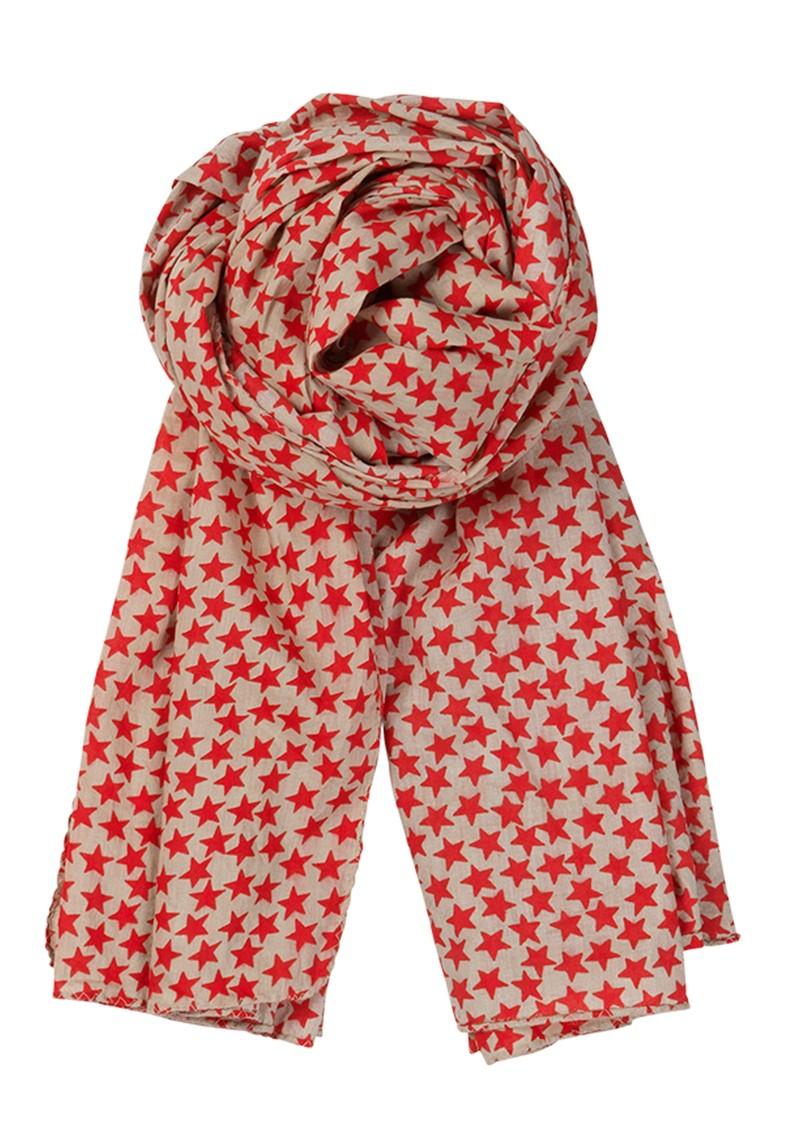 Becksondergaard C - Winter Stars Scarf - Poppy Red  main image
