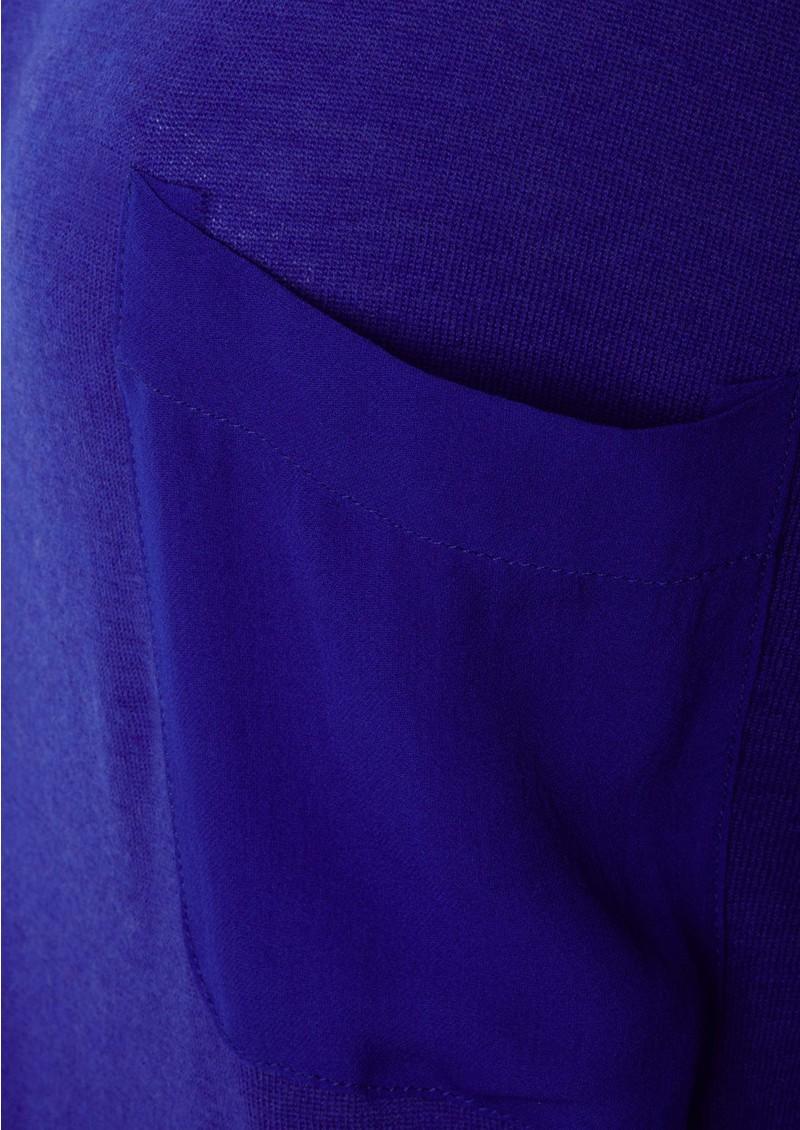 American Vintage Boise Cashmere Blend Long Sleeve Top - Electric Blue main image