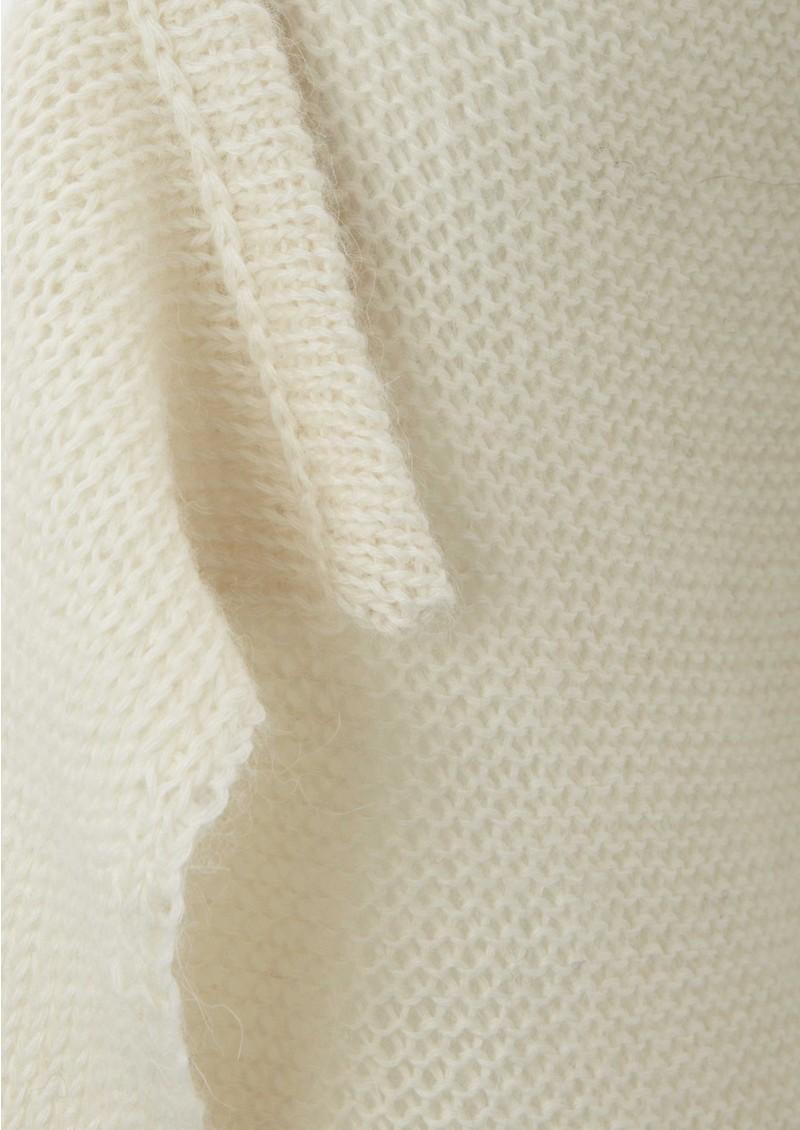 American Vintage Long Sleeve Wool Open Cardigan - Nude main image