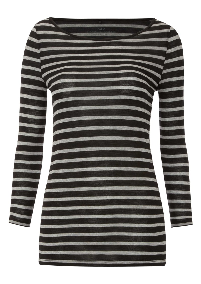 Day Birger et Mikkelsen  Striped Layering Top - Black main image
