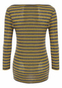 Striped Layering Top - Medium Grey Melange additional image
