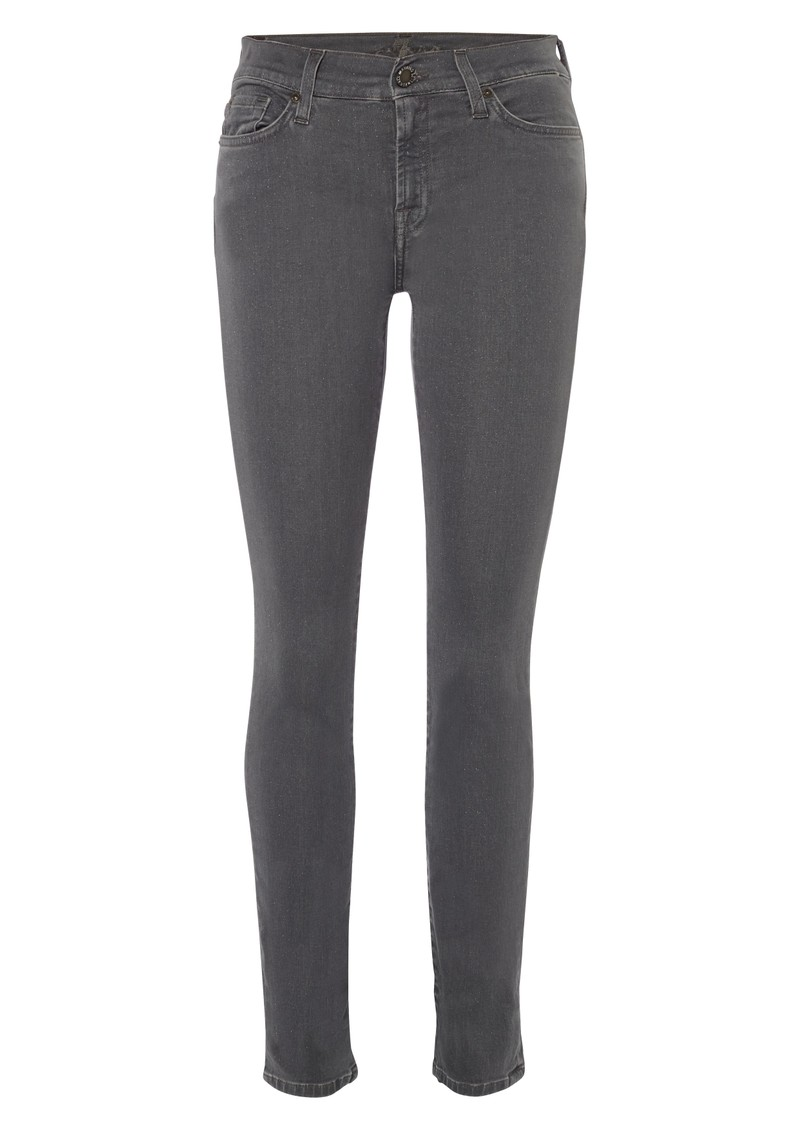 7 For All Mankind The Skinny Gummy Jean - Glitter Grey main image