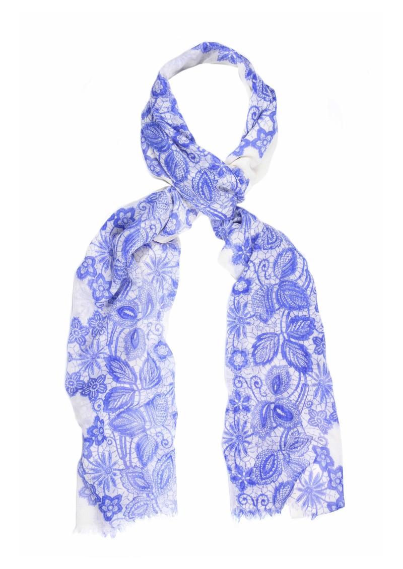 Mercy Delta Dentelle Wool & Silk Blend Scarf - Ocean main image