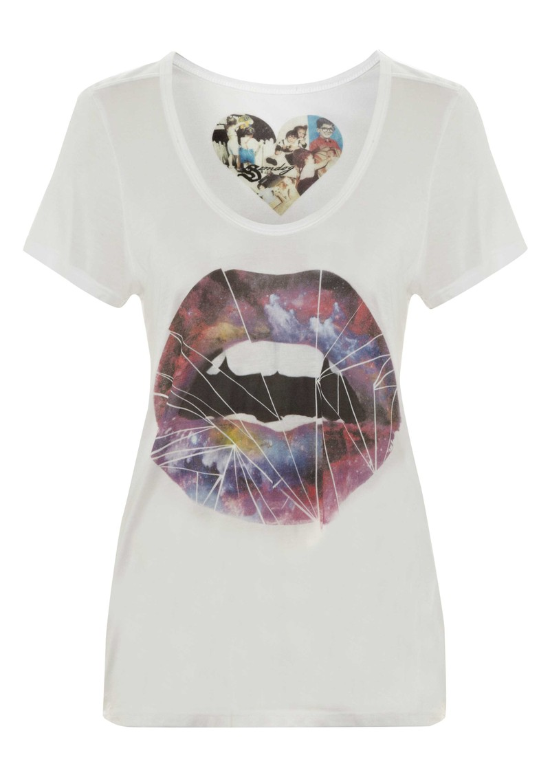 Simdog Cosmic Lips Tee - White main image