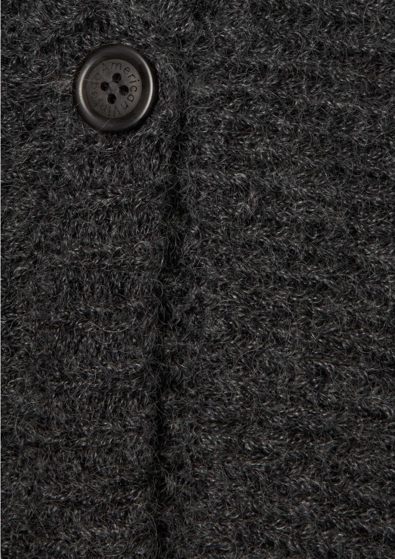American Vintage Modesto Wool Blend Cardigan - Charcoal main image
