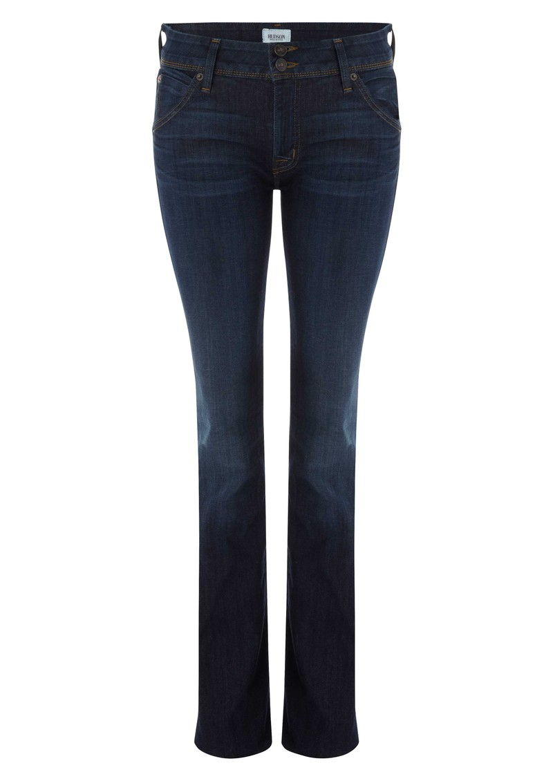 Hudson Beth Mid Rise Baby Bootcut Jean In Pont