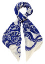 Lily and Lionel Octopus Silk & Wool Mix Scarf - Navy
