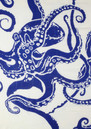 Octopus Silk & Wool Mix Scarf - Navy additional image