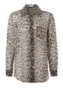 Equipment Reese Silk Shirt - Natural Leopard