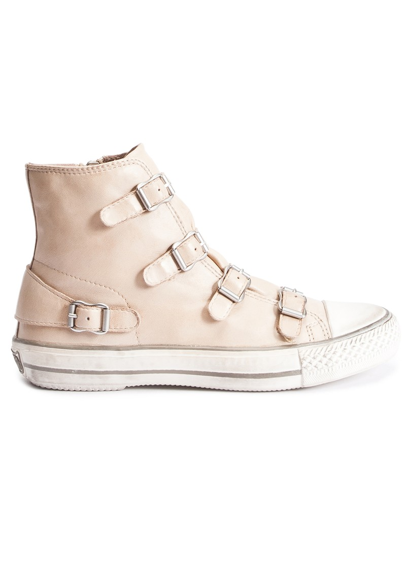 Ash Virgin Leather Buckle Trainer - Clay main image