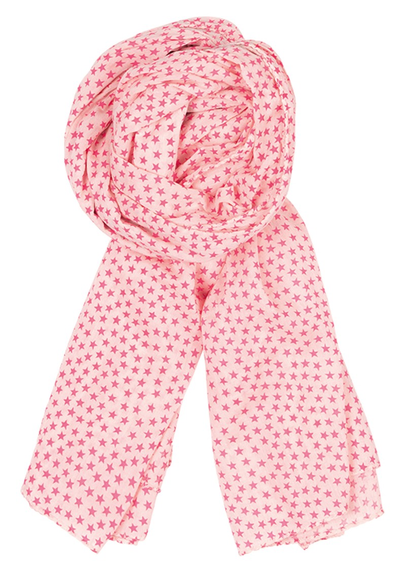 Becksondergaard Summer Stars Scarf - Neon Pink main image