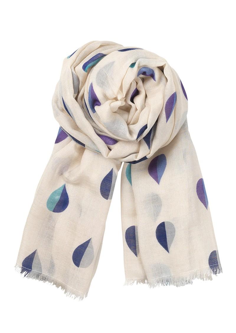 Becksondergaard B Sailor Drops Silk & Wool Mix Scarf - Royal Blue main image