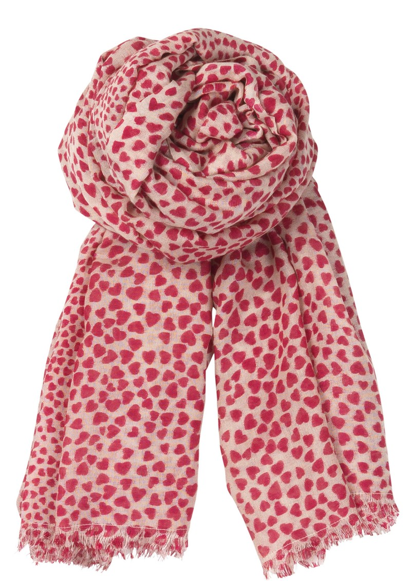 Becksondergaard B Heartstopper Silk & Wool Mix Scarf - Blushy Pink main image