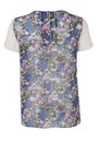 American Retro Thersa Silk Top - Floral Print