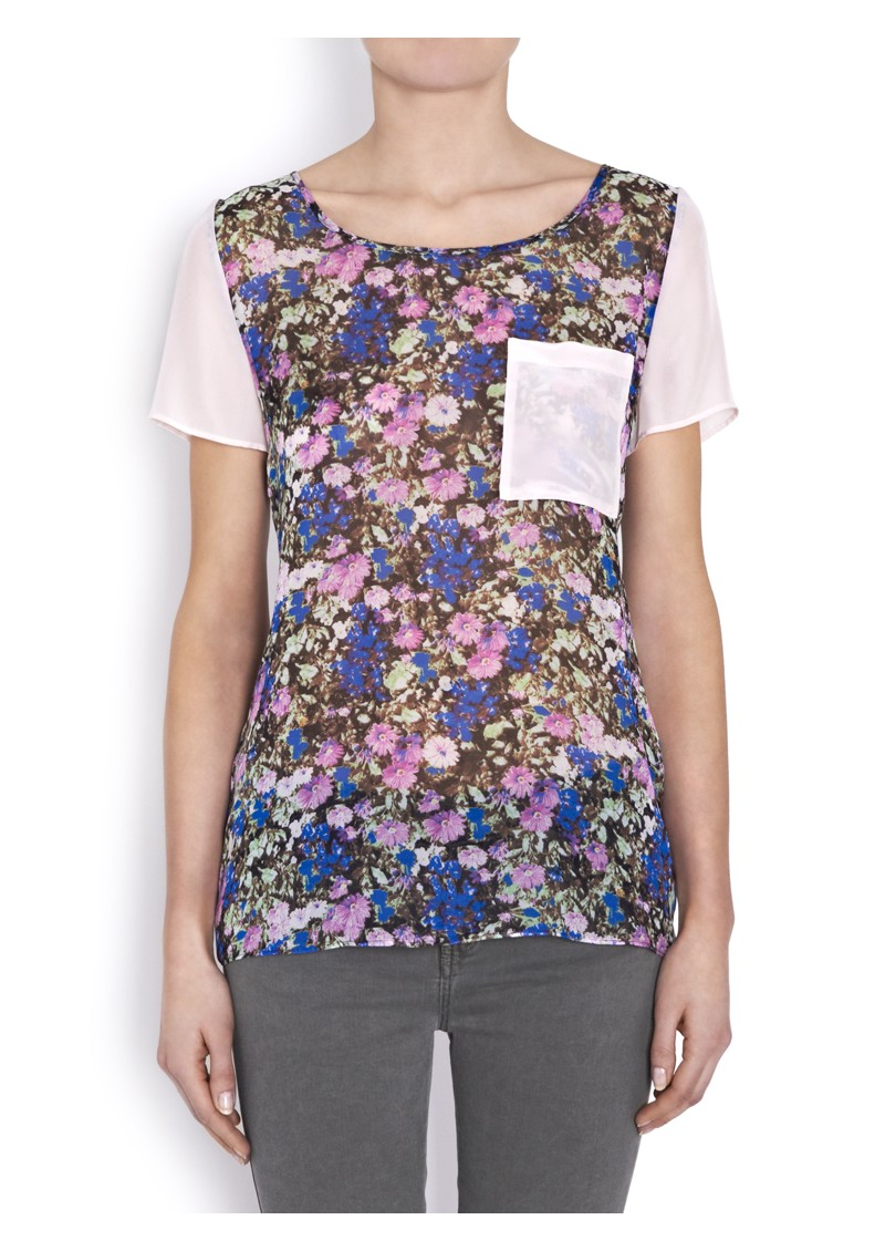 American Retro Thersa Silk Top - Floral Print main image