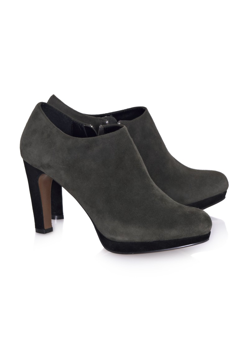 Lola Cruz Heeled Ankle Boot - Grey main image