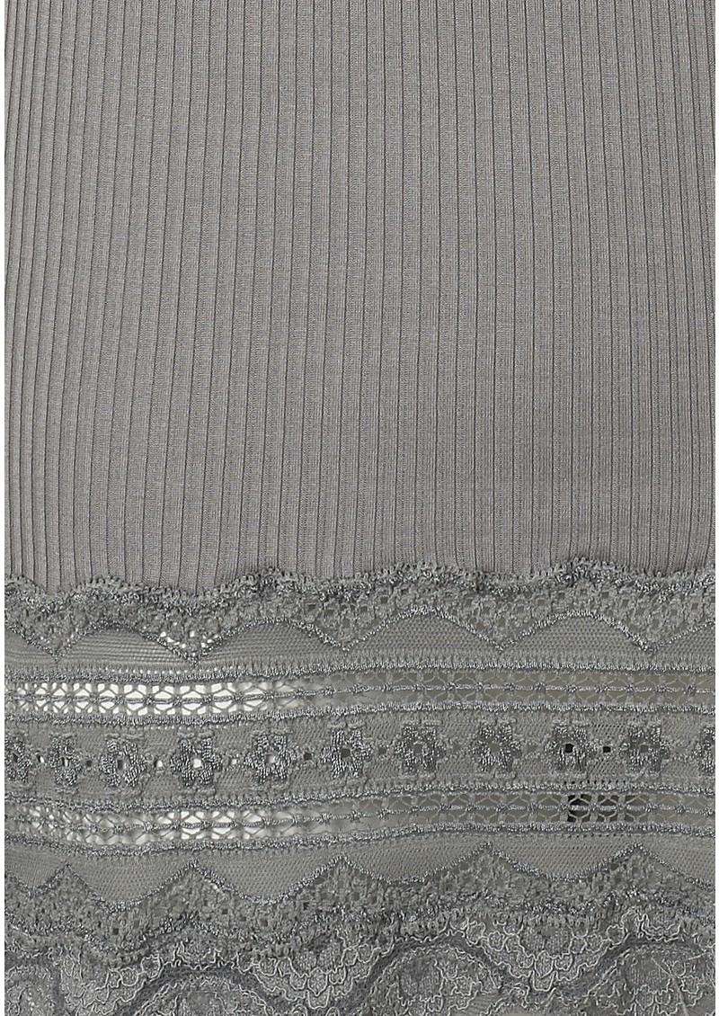Rosemunde Wide Lace Silk Blend Vest - Wild Dove main image