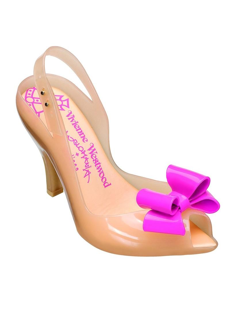 53c3ae22d94 Melissa Vivienne Westwood Lady Dragon Heel - Nude Bow