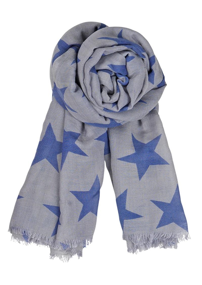 Becksondergaard B Supersize Nova Silk & Wool Blend Star Scarf - Blue Cloud main image