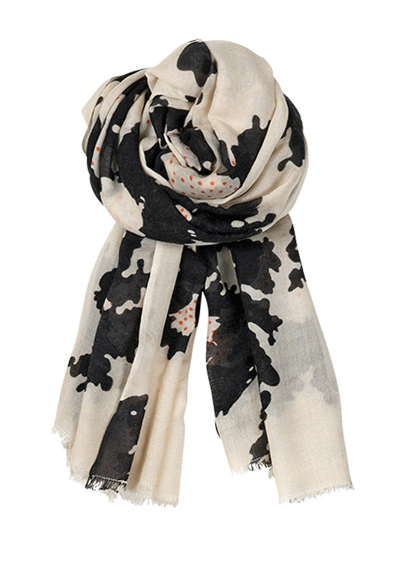 Becksondergaard B Poppy Fields Silk & Wool Blend Scarf - Black main image
