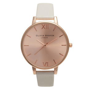 Big Dial Rose Gold Plated Watch - Mink