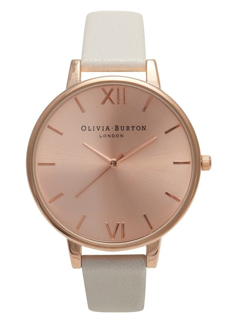Olivia Burton Big Dial Rose Gold Plated Watch - Mink main image. Loading  zoom
