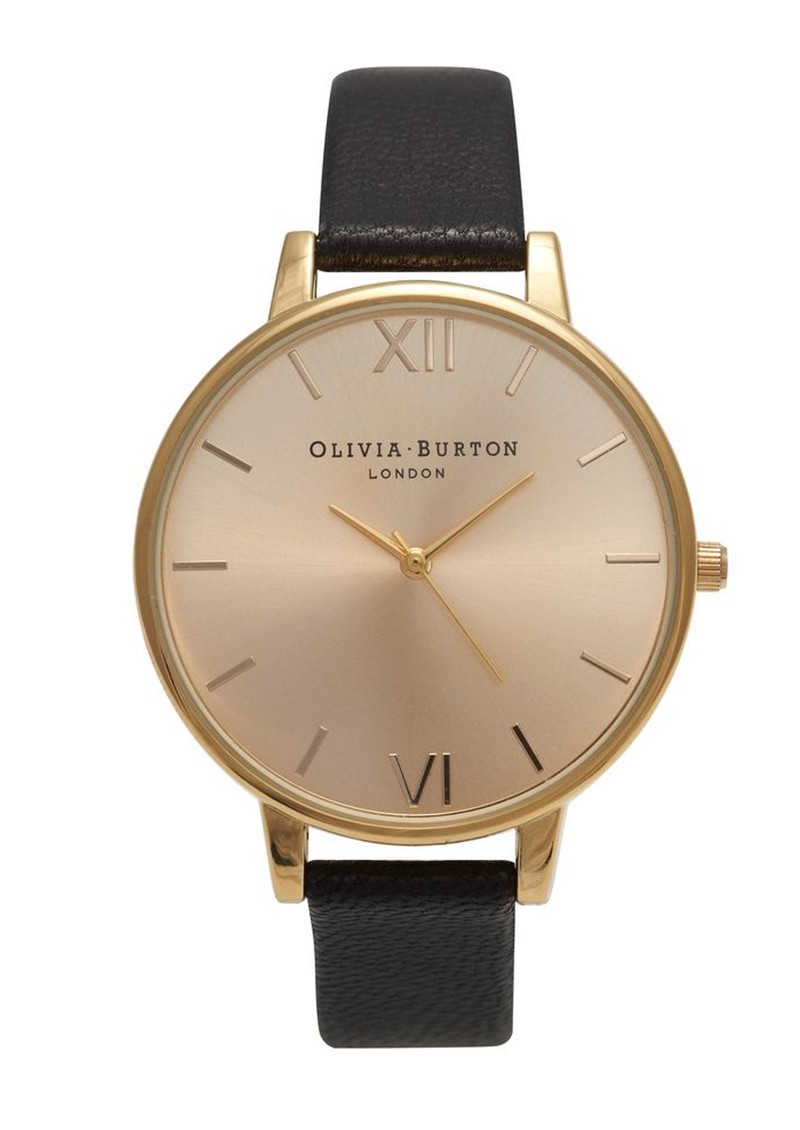 Olivia Burton Big Dial Watch - Black & Gold main image