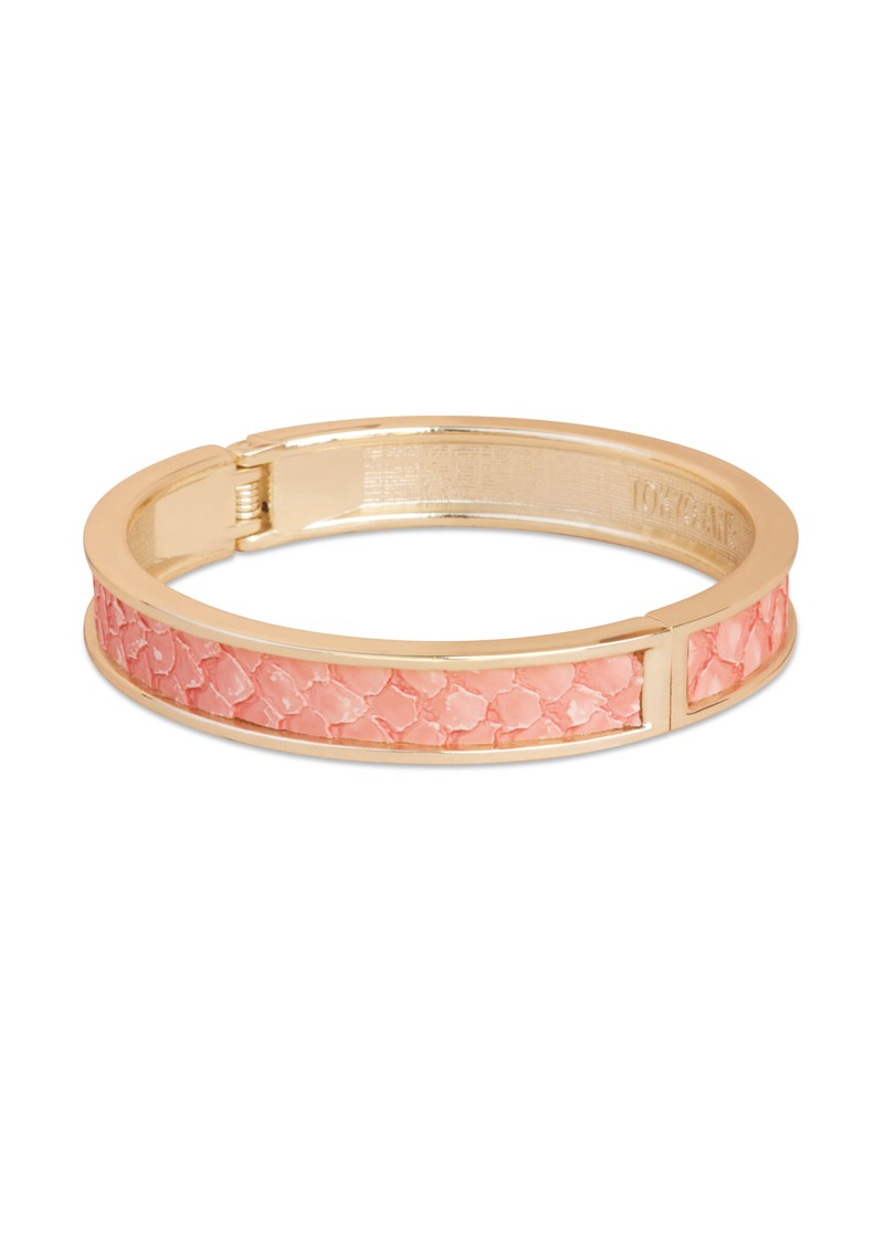Tokyo Jane Gete Leather Trim Bangle - Rose & Gold main image