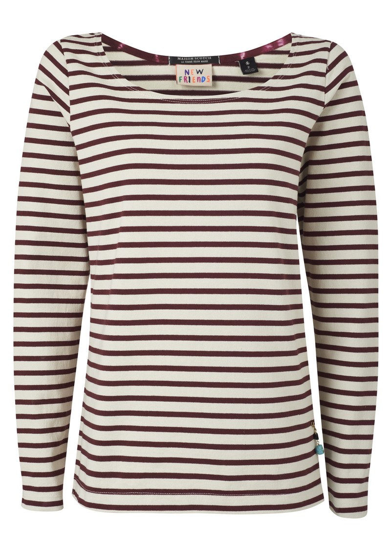 Maison Scotch Breton Stripe Top - Combo D main image
