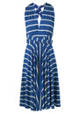 Butter By Nadia Signature Jersey Wrap Dress - Blue Stripe
