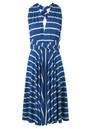 Signature Jersey Wrap Dress - Blue Stripe additional image