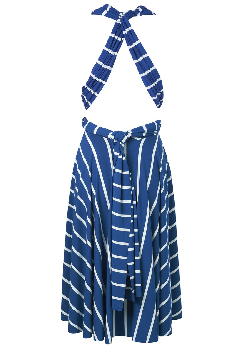 Butter By Nadia Signature Jersey Wrap Dress - Blue Stripe main image