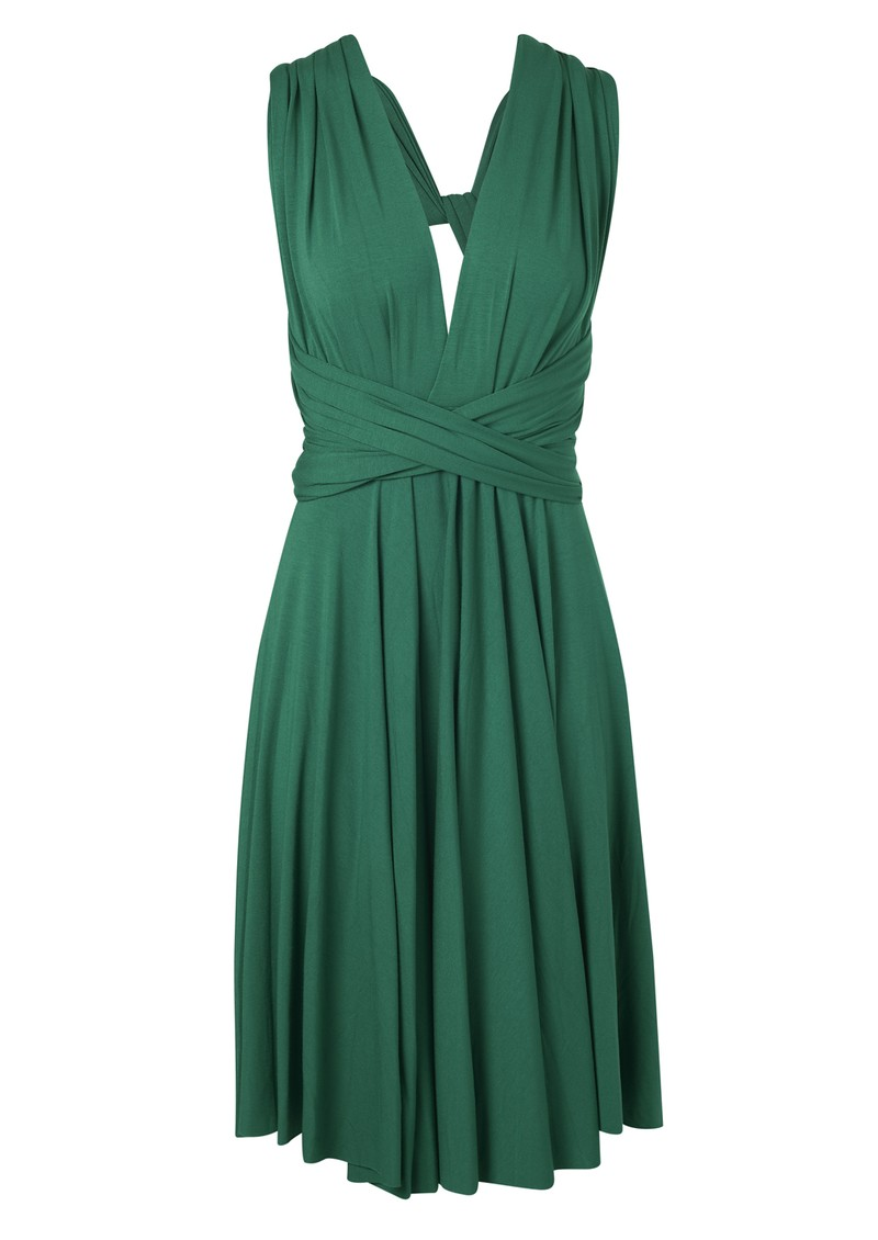 Butter By Nadia Signature Jersey Wrap Dress - Evergreen main image