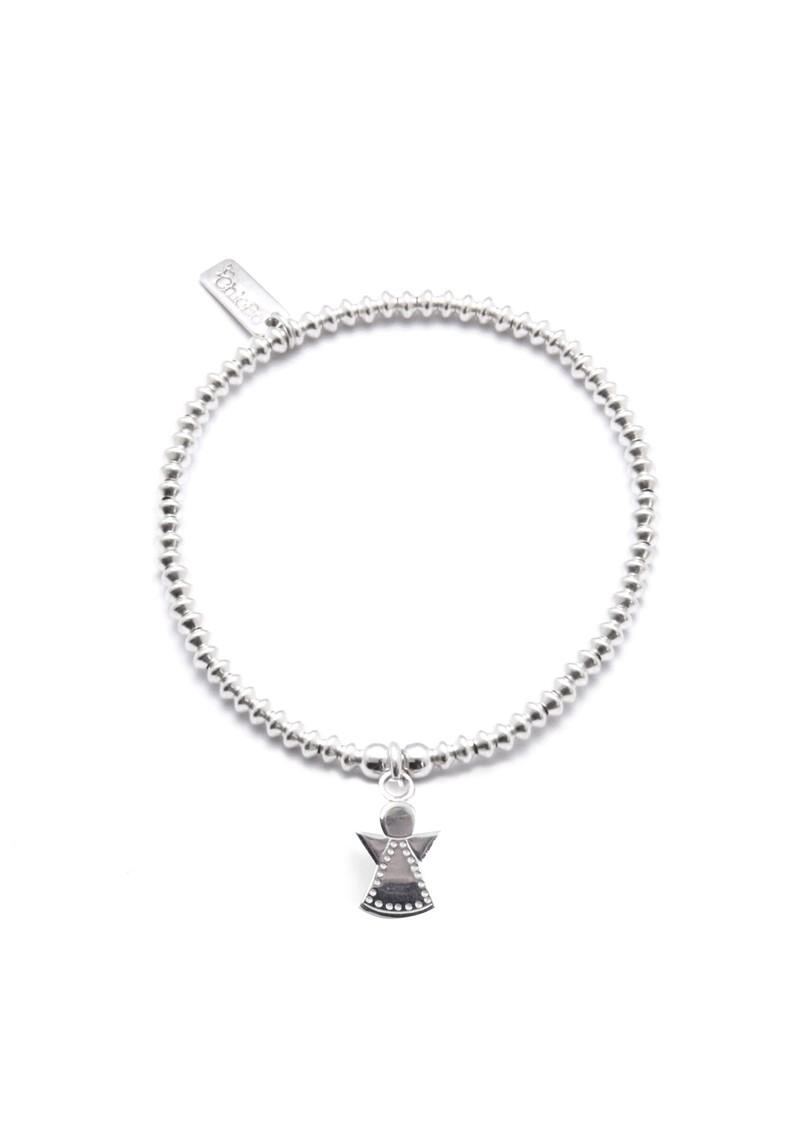 ChloBo Mini Disc Bracelet With Dotty Angel Charm - Silver main image