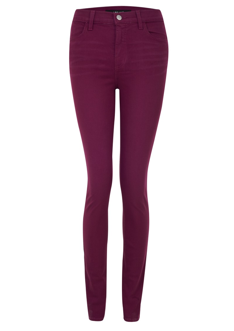 J Brand 23110 Maria High Rise Skinny Jeans - Loganberry main image
