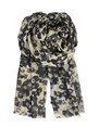 F Flower Blend Scarf - Black additional image