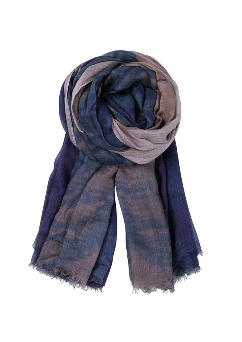 Becksondergaard F Feathers Cashmere Blend Scarf - French Blue main image